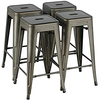 Fine Amazon Com Furmax 30 Inches Metal Bar Stools High Backless Gmtry Best Dining Table And Chair Ideas Images Gmtryco
