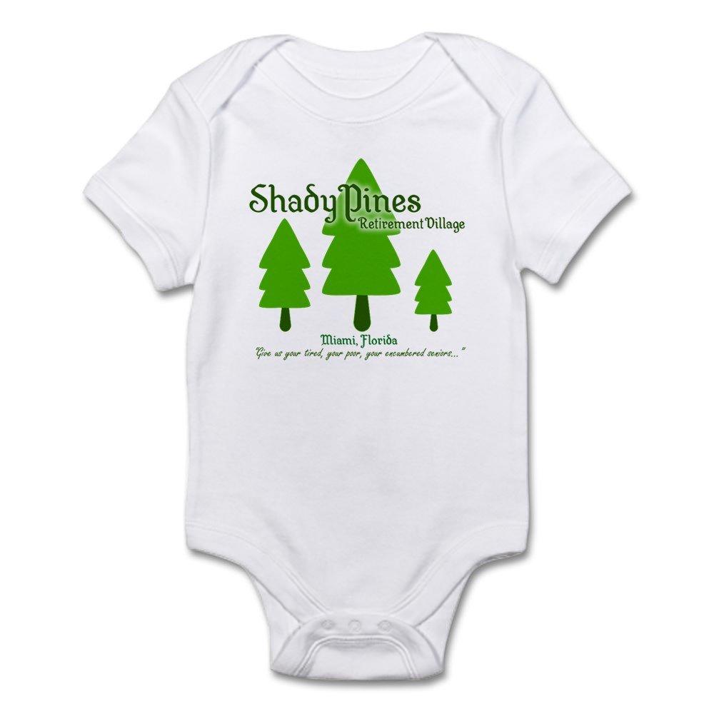 CafePress Shady Pines Retirement Village Body Baby Bodysuit