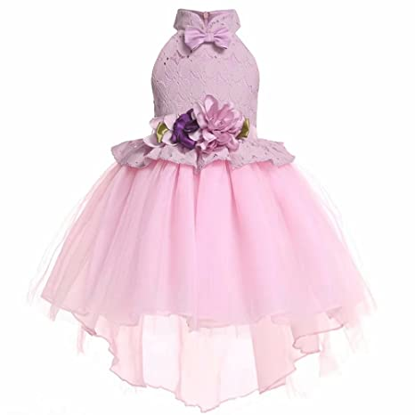 Review Girls Sleeveless Ice Cream Print Round Neck Cotton Party Dresses 3-8Years