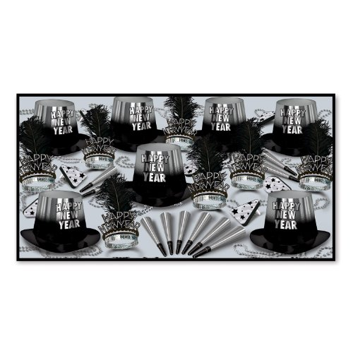 - Beistle 88263BKS50 Silver Entertainer Party Favors, 1 Assortment Per Package