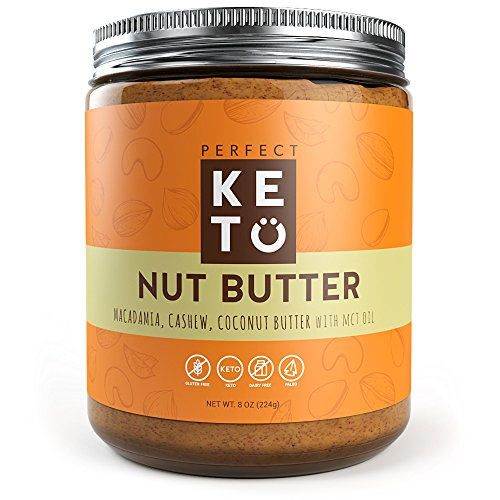 Keto Fat Nut Butter Snack to Support Weight Management on Ketogenic Diet - Ketosis Superfood Raw Nuts: Cashew Macadamia Coconut w Vanilla Sea Salt & MCT Oil - Paleo, Gluten Free & Vegan Low Carb Snack