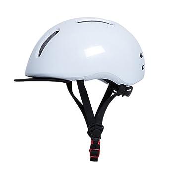 Qarape Ciudad Casco de bicicleta ocasional con visera Escudo Casco de ciclismo Confort respirable Cascos de