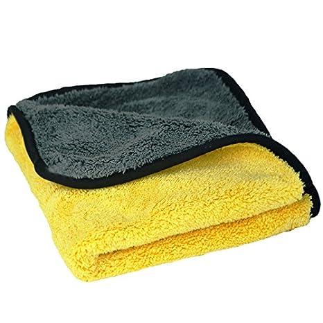 Panno Microfibra Per Asciugare L Auto.Autoscar Microfibra Asciugatura Panno Per Lavanderia Polacco Senza Graffi 45 X 38 Cm Panni Pulizia Lavaggio Secco Mobili Casa Auto Polacca Giallo