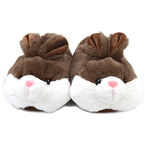 Millffy Bunny Slippers For Women Warm Funny Slippers House Shoes Rabbit Plush Slippers Coffee ue72y4