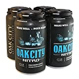 Oak City Nitro - Cold Brew Coffee, Infused with Nitrogen (Original, 4-Pack)