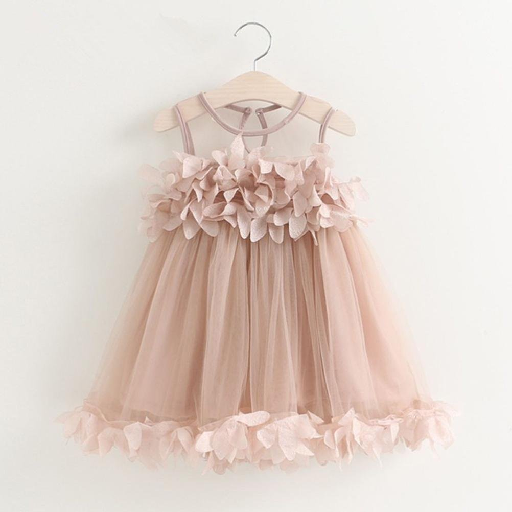 184912d8ce24 Turkey for 2-6 Years Old, Toddler Baby Girl Chiffon Princess Dress  Sleeveless Drape Pageant Dress Summer Tulle Sundress Perfect for Wedding  Party: ...