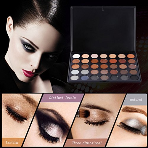 Water-chestnut 35 Full Color Eyeshadow Palette Smoky Nude Makeup Gloss Matte Shimmer Eyeshadow Palette Make Up Cosmetic