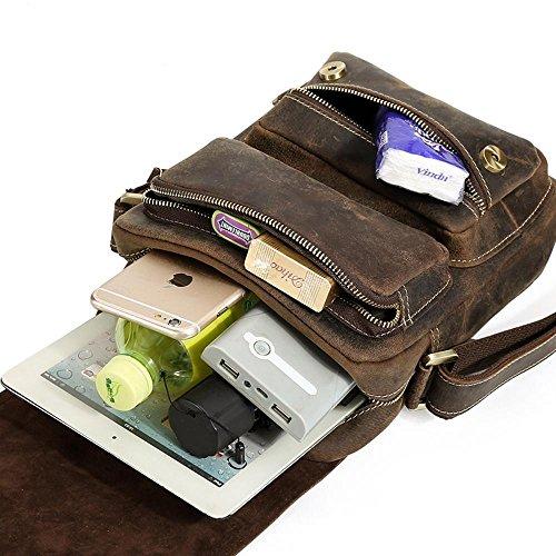 de cuero de Paquete retro los de 21cmx7cmx25cm Cruz una hombres Penao iPad bandolera de paquete oblicua B5Txwfwg
