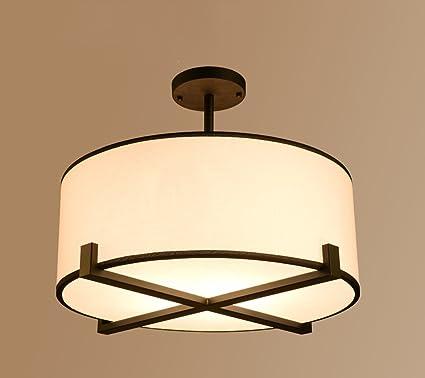 ZHDC® Luz de techo de tela, American Village Lámparas de ...
