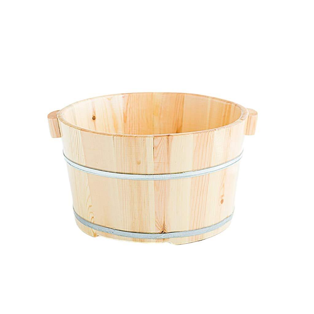 NUBAOgy 松の浴槽、純木の足の洗面器、世帯の浴槽、ペディキュアの洗面器、足のマッサージの洗面器、家、ホテル、36 * 21 * 30cm B07NZZ2W2J