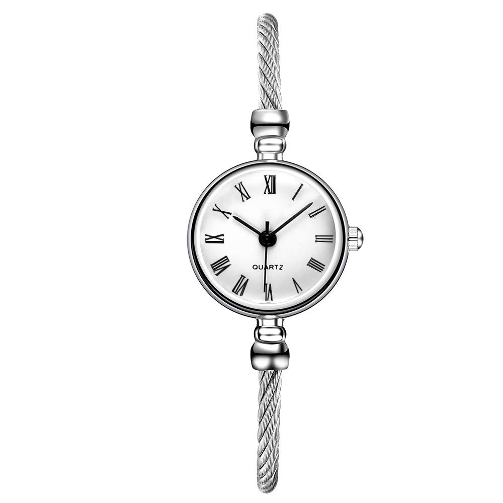 Fudule Women Watches, Bracelet Watches for Women Vintage Wristwatches Round Dial Case Quartz Watches Dress Watch for Girls on Sale
