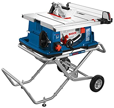 Bosch 10-Inch Worksite Table Saw 4100-10 with Gravity-Rise Wheeled Stand; Portable Table Saw