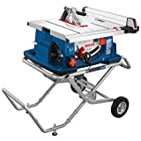 Bosch Power Tools Tablesaw 4100-10 - Worksite 10 Inch Table Saw with Gravity-Rise Wheeled Stand - Portable Small Table - Outstanding Capacity, Capability - Ideal For Heavy Duty Cutting, Home Builders