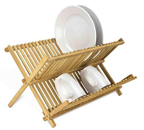 - Home Basics Foldable Bamboo Dish Drainer