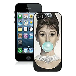 Unique Audrey Hepburn Black Phone Case for iPhone 5 5s 5th Generation
