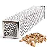 "Image of Stainless Steel Pellet Tube Smoker Smoker Pipe 12"" Square BBQ Pellets for Barbecue, Smoker, Grill"