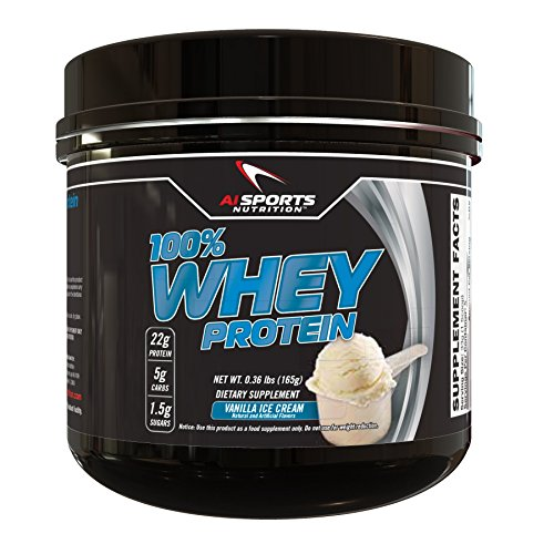 100% Whey Vanilla Ice Cream Protein Powder by AI Sports Nutrition | 100% Whey Protein Powder (5 Servings) Amazing Vanilla Ice Cream Flavor