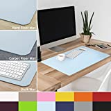 casa pura Non-Slip Light Blue Desk Mat | 20'' x 26'' (1.6'x2') | PVC & Phthalate Free | Multiple Colors to Choose from | Matching Chair Mats Available