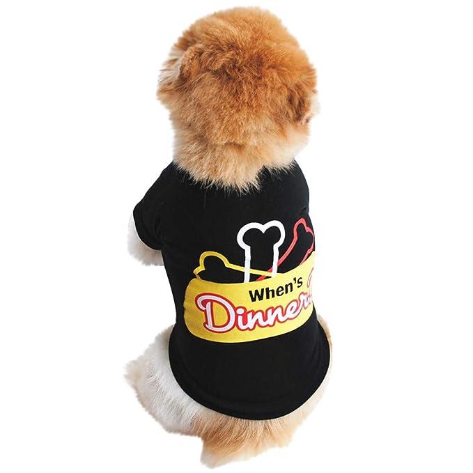 Amazon.com: Karoleda_Pet Ropa para perro, algodón, camisa de ...