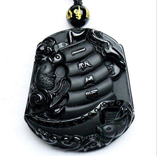 - Junrbx Smooth sailing Obsidian Pendant