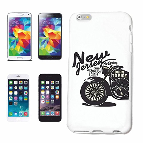 "cas de téléphone iPhone 6S ""VOUS JERSEY NO FREINS BORN TO RIDE SHIRT BIKER MOTO CHOPPER MOTO GOTHIQUE SKULL MOTO CLUB BIKE ROUTE 66"" Hard Case Cover Téléphone Covers Smart Cover pour Apple iPhone en b"