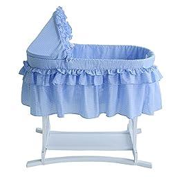 Lamont Limited Home Bassinet, Half Skirt, Blue