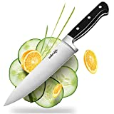 """Adierlife 8"""" Chef Knife, Razor Sharp Kitchen Gyutou Knife with Stainless Steel Full Tang Blade and Triple-riveted Pakka Wood Handle (TYPE-B)"""