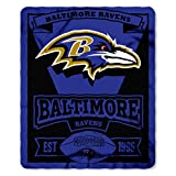 NFL Baltimore Ravens Marque Printed Fleece Throw, 50-inch by 60-inch