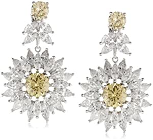 CZ by Kenneth Jay Lane 16 Cttw Marquis Cubic Zirconia Daisy Drop Earrings