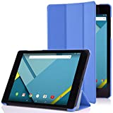 Google Nexus 9 Case - MoKo Ultra Slim Lightweight Smart-shell Stand Cover Case for Google Nexus 9 8.9 inch Volantis Flounder Android 5.0 Lollipop tablet by HTC, BLUE