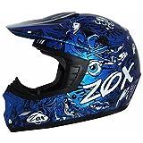 Zox ZRSH-PKM Rush Junior Sharpie-Youth Street Motocross Dirt Off-Road Motorcycle Helmet