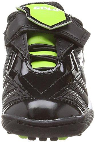 Gola Net Velcro - Zapatillas para deportes de exterior de sintético para niño Black/Lime