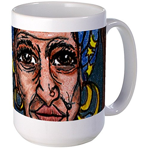 CafePress - The Gypsy Witch of New Orlean Large Mug - Coffee Mug, Large 15 oz. White Coffee Cup