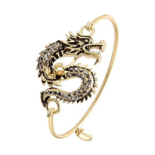 (SENFAI Dragon Wire Bangle Bracelet (Gold) )