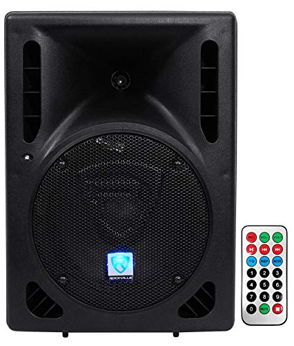 "Rockville RPG8BT 8"" Inch Powered 400W DJ PA Speaker BlueTooth, USB, SD, Remote"