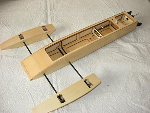 Tobsd 195 Inch Rc Ep Wooden Mini Trident Kit Rc Boat Outrigger