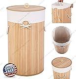 ZaZaTool - Round Bamboo Hamper Laundry Basket Washing - Best Reviews Guide