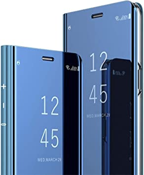 COTDINFOR Samsung Galaxy A80 Funda Espejo Ultra Slim Ligero Flip ...