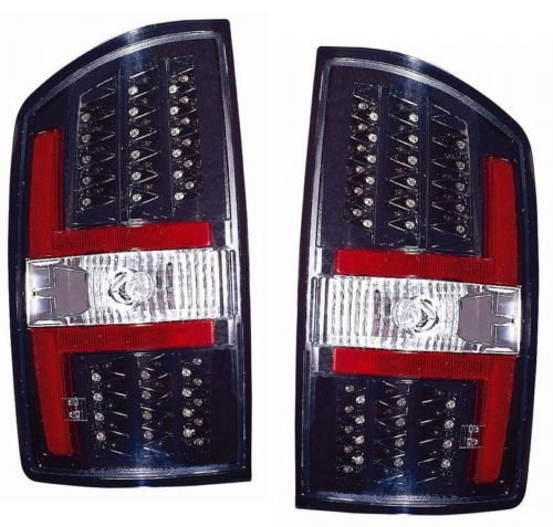 Dodge RAM Pickup Replacement Tail Light Assembly (LED Black) -