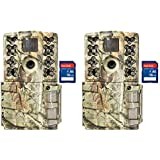 Monarch Specialties Moultrie A-5 Gen 2 14 MP 8 GB SD Card Infrared Digital Game Trail Hunting Camera (2 Pack) SanDisk 16GB SD Memory Card (2 Pack)