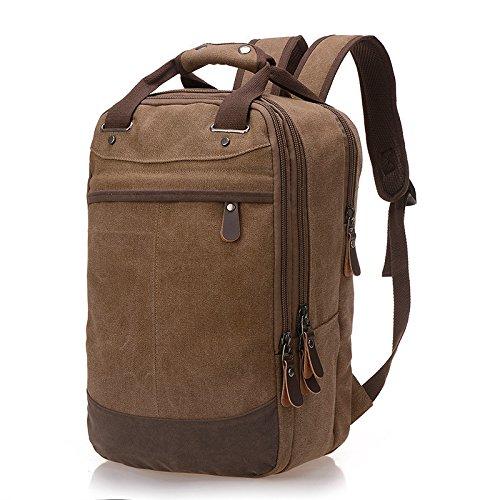 Mefly Freizeitaktivitäten Canvas Bag Koreanischen Stil Retro Mann Canvas Bag Schultern Bergsteigen Tasche Coffee 4Z5EBHS