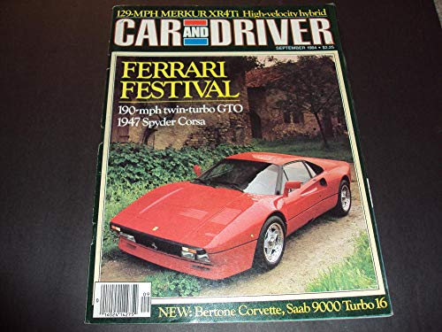 Car And Driver Sep 1984 Ferrari Festival, 1947 Spyder Corsa ()