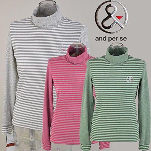 [アンパスィ] レディース ハイネックシャツ 9214-x9 ゴルフウェア S 11(アイボリー) B07RLB2V4N