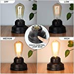 Boncoo Touch Control Table Lamp Vintage Desk Lamp Small Industrial Touch Light Bedside Dimmable Nightstand Lamp… 8