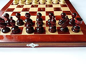 New red beautiful handcraft hazel wood chess piece,32x32 beech wood chess box,wooden chess set backgammon checkers,educational game