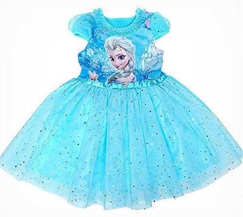 Girls' Frozen Queen Elsa Tutu Dress Party Birthday Dress (3-4 years(110))