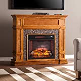Southern Enterprises Belleview Infrared Electric Fireplace TV Stand
