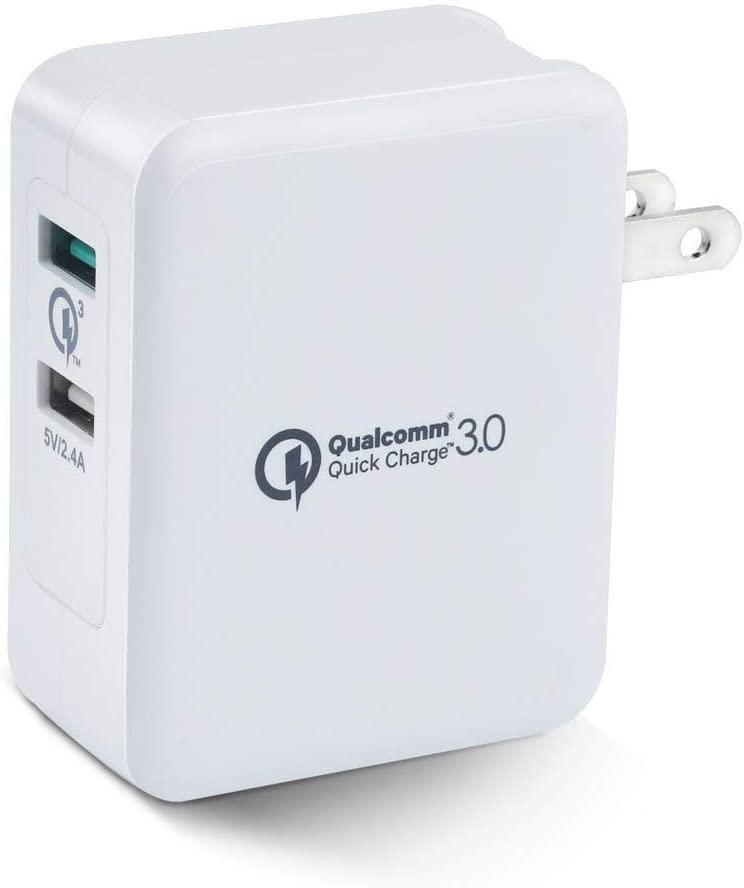 Quick Charger 3.0 Wall Charger, 36W Dual USB Port Adapter Fast Charging Replacement for Samsung Galaxy S8/S7/S6/Edge/Plus, Note 8/7, HTC One A9/M9, Nexus 9, LG G5/G4, iPhone, iPad and More