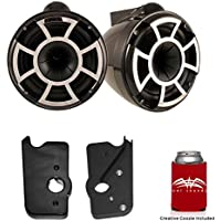 Wet Sounds For Malibu G3 Tower System REV10B-X 10 Pair White X-Mount Tower Speakers & Polished Adapters