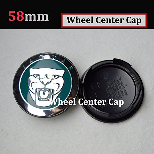 Hanway 4 x 58mm Green Cap JAGUAR Alloy Wheel Center Caps JAGUAR Emblem Badge For XJ XJR XJ6 XF X S TYPE Wheel Center Covers Brand New